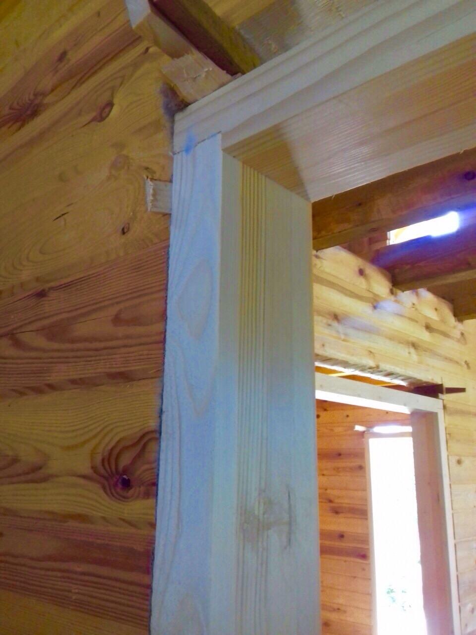 Как сделать дверной проём в деревянном доме 861
